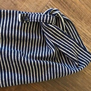 LOFT Dresses - Navy and white striped Loft dress